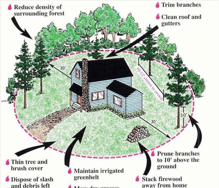 Fire Damage Creating a Defensible Space